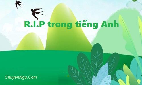 RIP là gì trong tiếng Anh, ý nghĩa từ viết tắt R.I.P là Rest In Peace